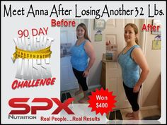 Congratulations to our newest 90 day weightloss winner ... way to go Anna  www.SPXNutri-tion.com