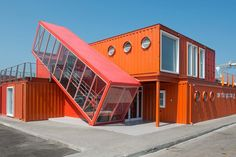 Fittingly, the office of Israel's Ashdod Port, designed by Potash Architects, is crafted out of cargo containers