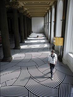 Geometric Tape Floors by Jim