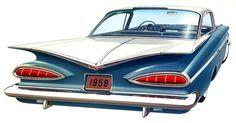 """2013.07.27 letvent.com post---""""Classics from Detroit"""" 4 - 1959 Chevrolet Impala 2DR hardtop"""