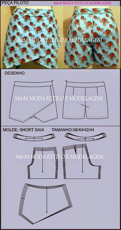 Sewing Shorts Easy Free Pattern 54 Ideas For 2019 - Diy Crafts Sewing Shorts, Diy Shorts, Sewing Clothes, Dress Sewing Patterns, Sewing Patterns Free, Clothing Patterns, Free Pattern, Pattern Sewing, Pattern Ideas