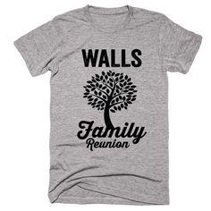 WALLS Family Name Reunion Gathering Surname T-Shirt