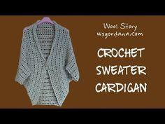 DIY Tutorial - Crochet Sweater Cardigan (Heklani Kardigan) - YouTube