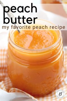 Make easy peach butter easily in the Instant Pot Crock Pot or slow cooker. Use fresh peaches or frozen peaches. Add mangoes if you wish for this smooth and creamy fruit spread. Jelly Recipes, Jam Recipes, Canning Recipes, Fruit Recipes, Canning Tips, Sweet Recipes, Flavored Butter, Homemade Butter, Peach Jam