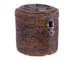Caja de ratán - Ø18 cm