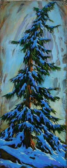 David Langevin - Angel Fir (high def, shows texture) Forest Landscape, Abstract Landscape, Tree Illustration, Garden Painting, Canadian Artists, Art Background, Awesome Art, Oil Paintings, Painting Inspiration