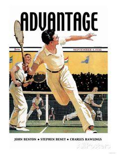 Men Play Tennis Stampe su AllPosters.it #poster #illustration par Buyenlarge sur Getty Images