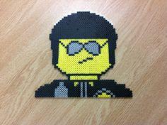 Bad Cop Lego Movie perler beads by Amanda Collison - Pattern: http://www.pinterest.com/pin/374291419003819154/