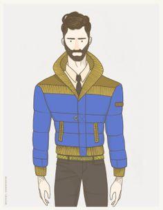 men's fashion illustration by DCWDesign. #menswear #illustration #fashion #fashionillustration