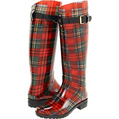 Plaid rainboots