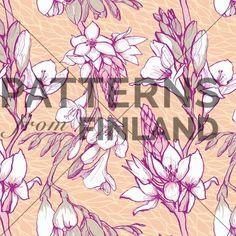 Afrikan lilja by Kahandi Design   #patternsfromfinland #kahandidesign #pattern #surfacedesign #finnishdesign