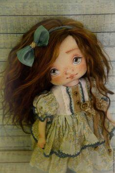 Коллекционные куклы ручной работы. Ярмарка Мастеров - ручная работа. Купить Милана. Handmade. Голубой, авторская ручная работа, кукла