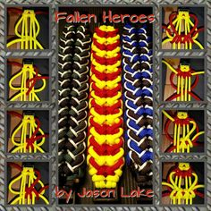 """Fallen Heroes"" Paracord Bracelet Tutorial by Jason Lake"