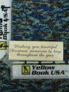 Christmas Memories wording  rubber stamp - new #HeroArts #WoodMountedRubber