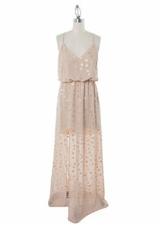 Judith March Woman's Taupe Metallic Maxie Dress Pre-Order