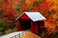 "covered bridge. ""Beautiful."""