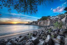 Sunset at Paseo De La Princesa - (HDR Old San Juan, Puerto Rico)