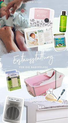 Erstausstattung für die Babypflege | Pflegeprodukte | Wickeln | Windeln wechseln | Baby baden | Wunder Babypo | ivy.li