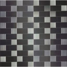 Instant Mosaic 2012 Stainless Steel Color Metal Mosaic Subway Indoor/Outdoor Peel-and-Stick Wall Tile (Common: 12-in x 12-in; Actual: 12-in x 12-in)