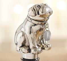 Bulldog Bottle Stopper by Pottery Barn