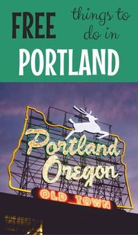 Whether you call Portland, Oregon home or are just visiting the city with kids, you can't go wrong with these 18 fun and totally free things to do!