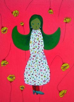나쁜꽃밭 Bad a Flower Garden Acrylic Art, Kids Rugs, Garden, Flowers, Animals, Home Decor, Wings, Portraits, Colors