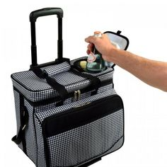 Picnic Cooler On Wheels For 4