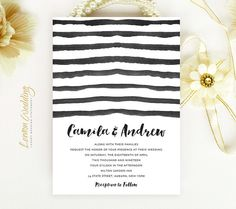 inexpensive wedding invitations printed on luxury pearlescent paper black and white wedding invitations watercolor