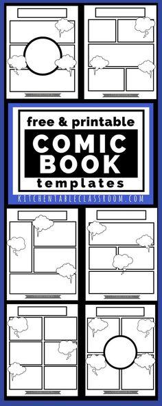 comic book templates - writing activities