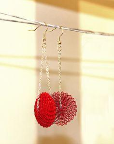Babelfish / Paper Earrings / Paper Jewelry, Dangle Earrings, Chain Earrings…