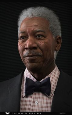 Morgan freeman for Dark knight rises(Mobile game) - Sculpting made with ZBrush.