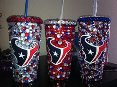 Houston Texans Bling Tumbler by SparkledIntentions on Etsy, $45.00