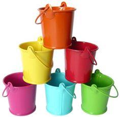 Candy Buffet Rainbow Couleurs Plastique Seau Avec Poignée X 6