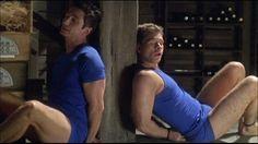Stripped down to their blue underwear