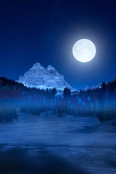 Tre Cime Lavaredo by night by Marco Carmassi