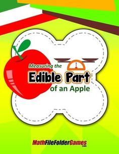 Give each student an apple, napkin and scales with metric units of measurement. Discuss what is considered to be the edible part of the apple. Have students measure the weight of the apples using the scales and record their findings on paper. Get the complete Focus On Measurement BUNDLE of 28 Measurement games and save!