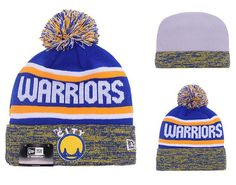 88ab49077 Men s   Women s Golden State Warriors New Era NBA Hardwood Classics Marled Cuff  Pom Pom Beanie Hat - Blue