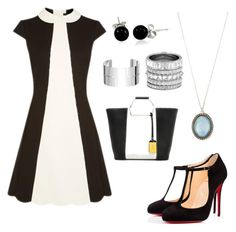 A fashion look from April 2016 featuring scalloped dress, black heeled shoes and purse tote. Browse and shop related looks. Scalloped Dress, Henri Bendel, Bling Jewelry, Christian Louboutin, Fashion Looks, Van, Heels, Polyvore, Shopping