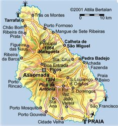 """Résultat de recherche d'images pour """"cabo verde ilha de santiago"""" Cape Verde Map, Cabo, Rue Pietonne, Le Cap, Dreams, Holiday, Boa Vista, Block Island, Saint James"""