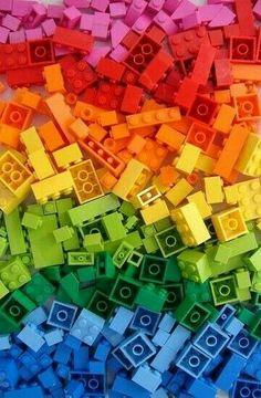 A rainbow of a Lego colours Love Rainbow, Taste The Rainbow, Rainbow Art, Over The Rainbow, Rainbow Colors, Rainbow Blocks, Orange Aesthetic, Rainbow Aesthetic, World Of Color