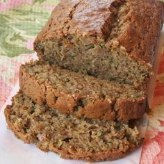 A deliciously moist zucchini bread flavored with cinnamon, nutmeg, ginger, and cloves.