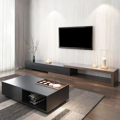 Living Room Tv Unit Designs, Interior Design Living Room, Living Room Decor, Tv Cabinet Wall Design, Home Decor Furniture, Furniture Design, Modern Tv Room, Coffee Table With Drawers, Coffee Tables