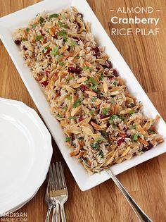 Cranberry almond rice pilaf