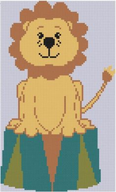 Looking for your next project? You're going to love Circus Lion Cross Stitch Pattern  by designer Motherbeedesigns. - via @Craftsy