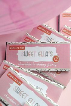 Tania McCartney: chocolate party invitations - What a cool idea!
