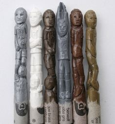 crayon carvings
