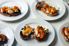Bruschetta with Homemade Ricotta, Roasted Yellow Peppers, and Green Garlic - Amateur Gourmet