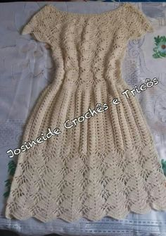 Crochet Dresses, Crochet Clothes, Short Sleeve Dresses, Dresses With Sleeves, Knit Crochet, Embroidery, Sewing, Knitting, Fit