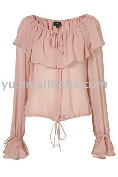 Designer Clothes, Shoes & Bags for Women Pretty Outfits, Cute Outfits, Pink Long Sleeve Tops, Casual Outfits, Fashion Outfits, Collar Blouse, Pleated Shirt, Blouse Styles, Corsage