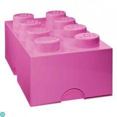 LEGO Storage Brick 8 Bright Purple Opbevaringsboks